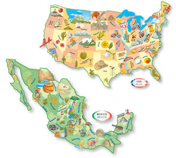 Ingenio North American Map Learning Puzzle Smart Play Let S Start