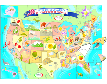 Ingenio USA Map Puzzle Smart Play Lets Start Learning - Us product map